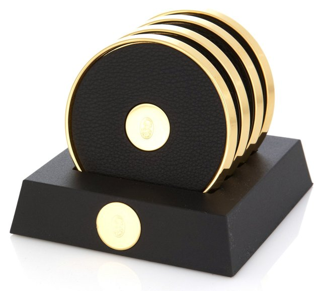 23K Gold-Plated Coasters