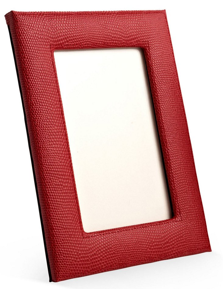 "5"" x 7"" Leather Picture Frame, Red"