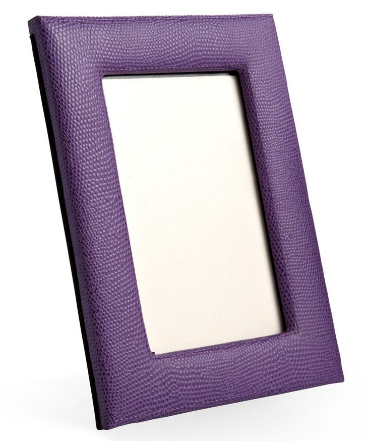 "5"" x 7"" Leather Picture Frame, Purple"
