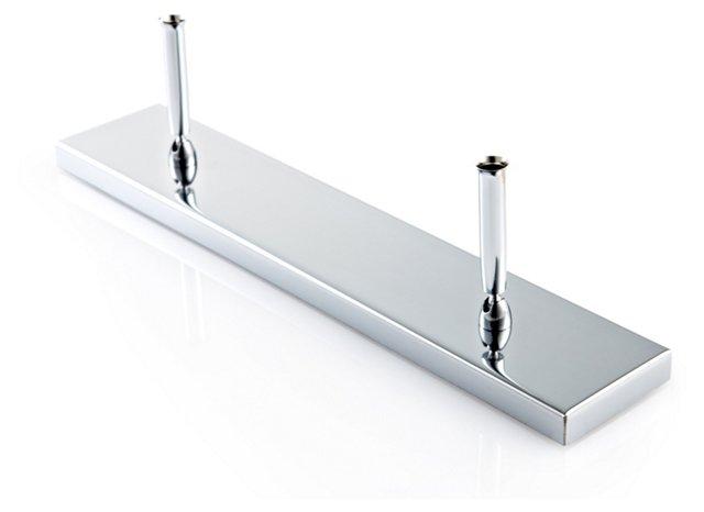 Chrome-Plated Double Pen Holder