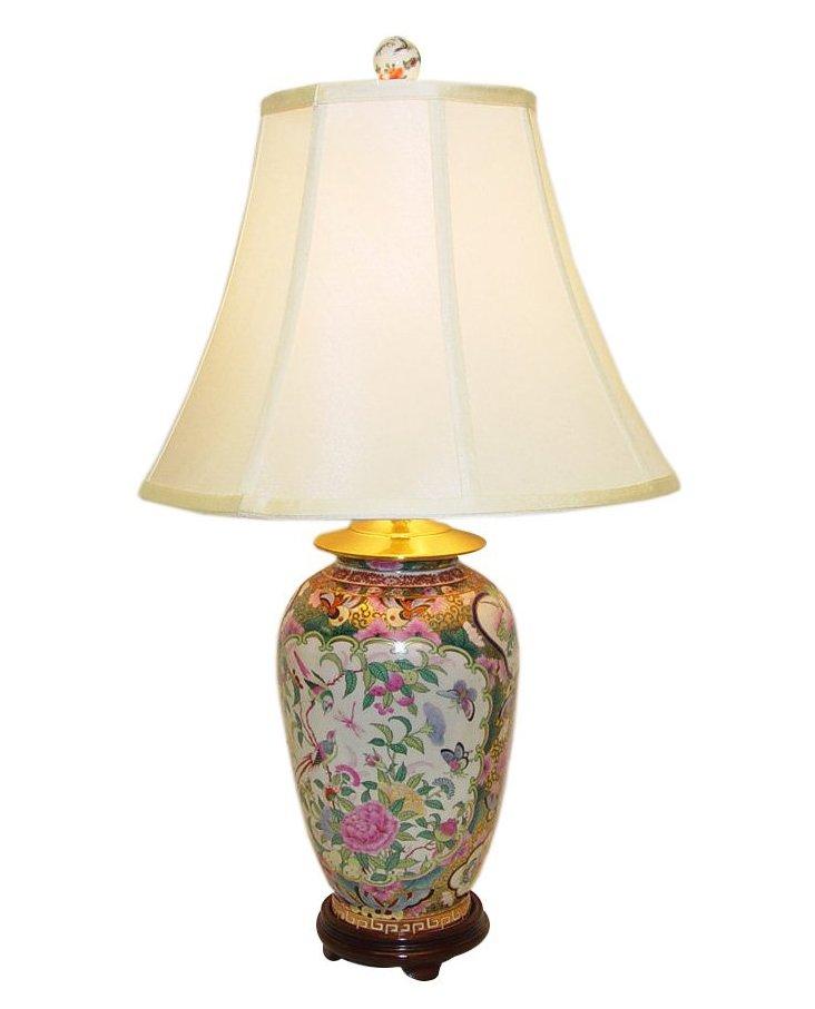 Rose Medallion Table Lamp