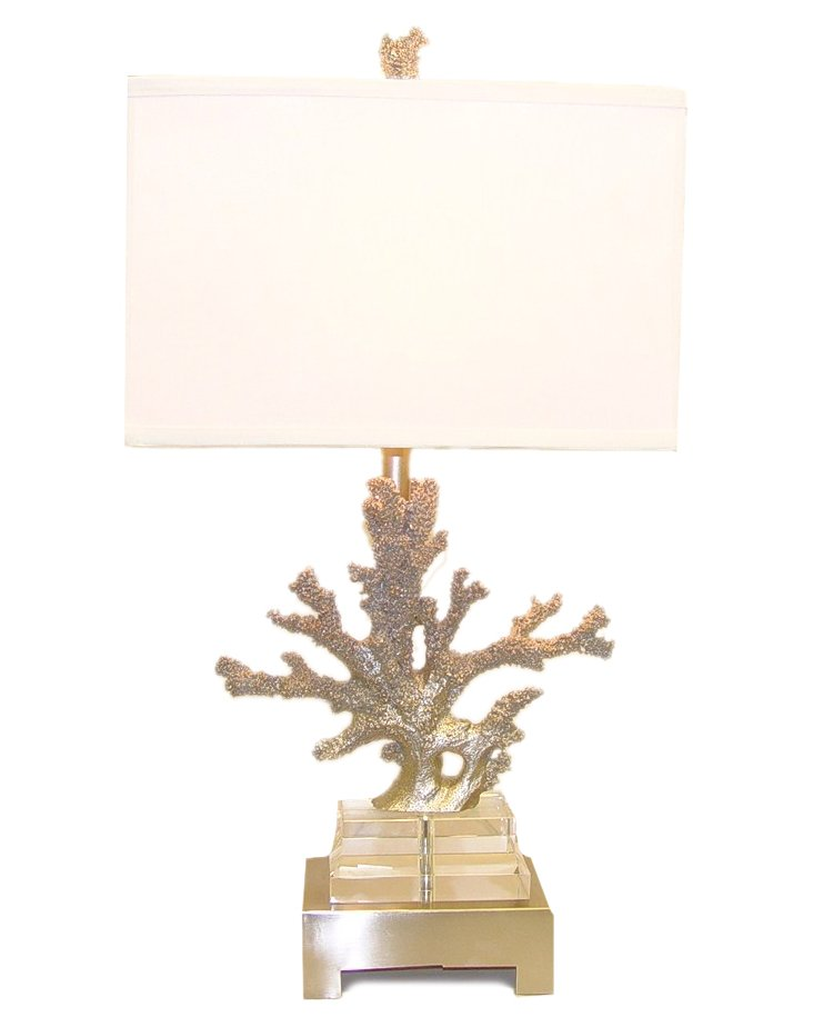 Coral Lamp, Silver