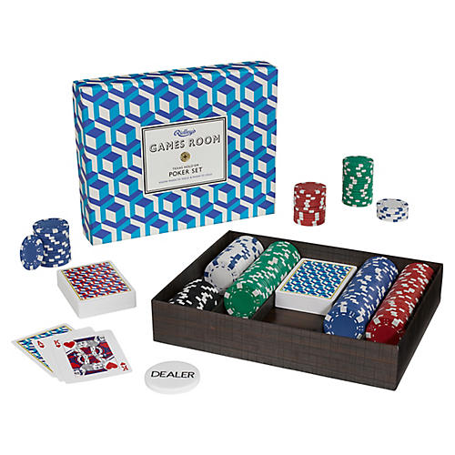 Ridley's Poker Set, Blue/Multi