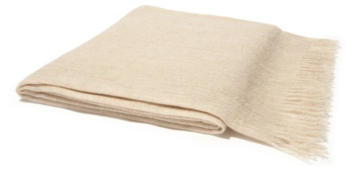 Featherweight Cashmere Throw, Oatmeal