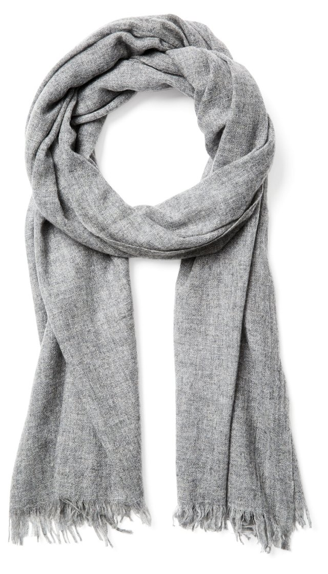 Cashmere Featherweight Wrap, Gray