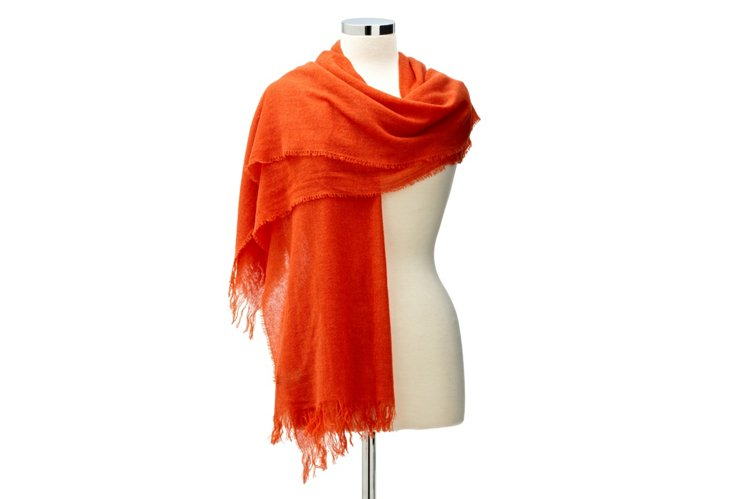 Cashmere Featherweight Wrap, Furnace