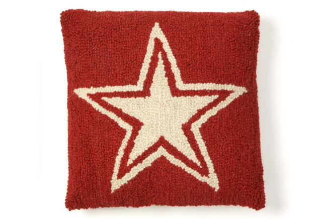 Star Decorative Pillow Sham, Red