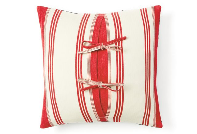 Cape Cod Pillow Sham, Red Stripe