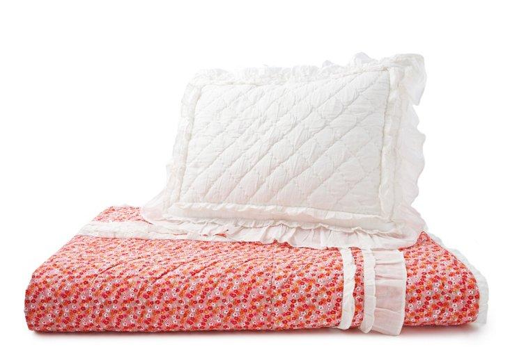 Annabelle Quilt Set, Pink
