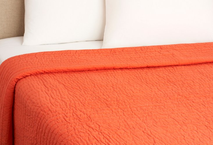 Twin Base Camp Quilt, Persimmon