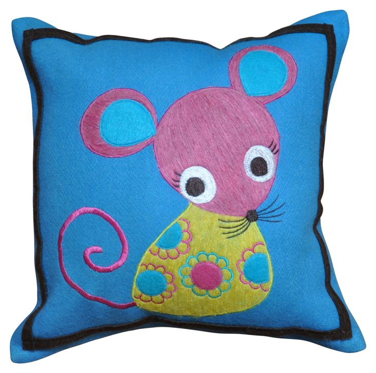 Mouse 12 x 12 Wool Pillow