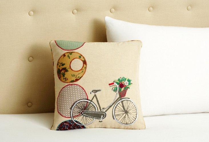 Bicycle 16 x 16 Pillow