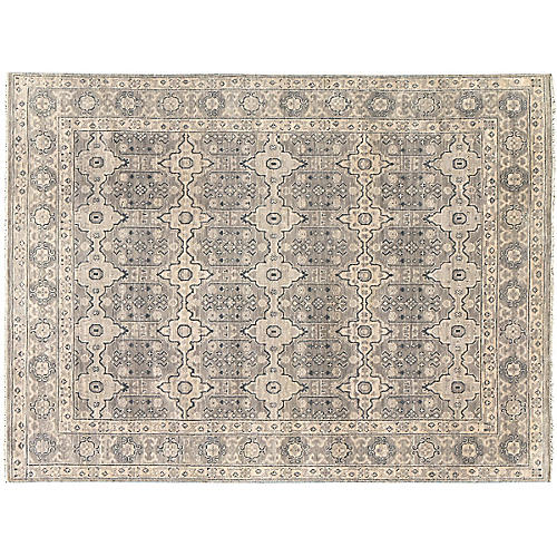 Starling Hand-Knotted Rug, Gray
