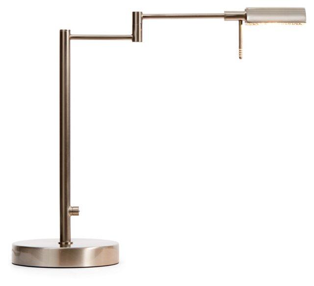 Suffolk Table Lamp, Satin Nickel