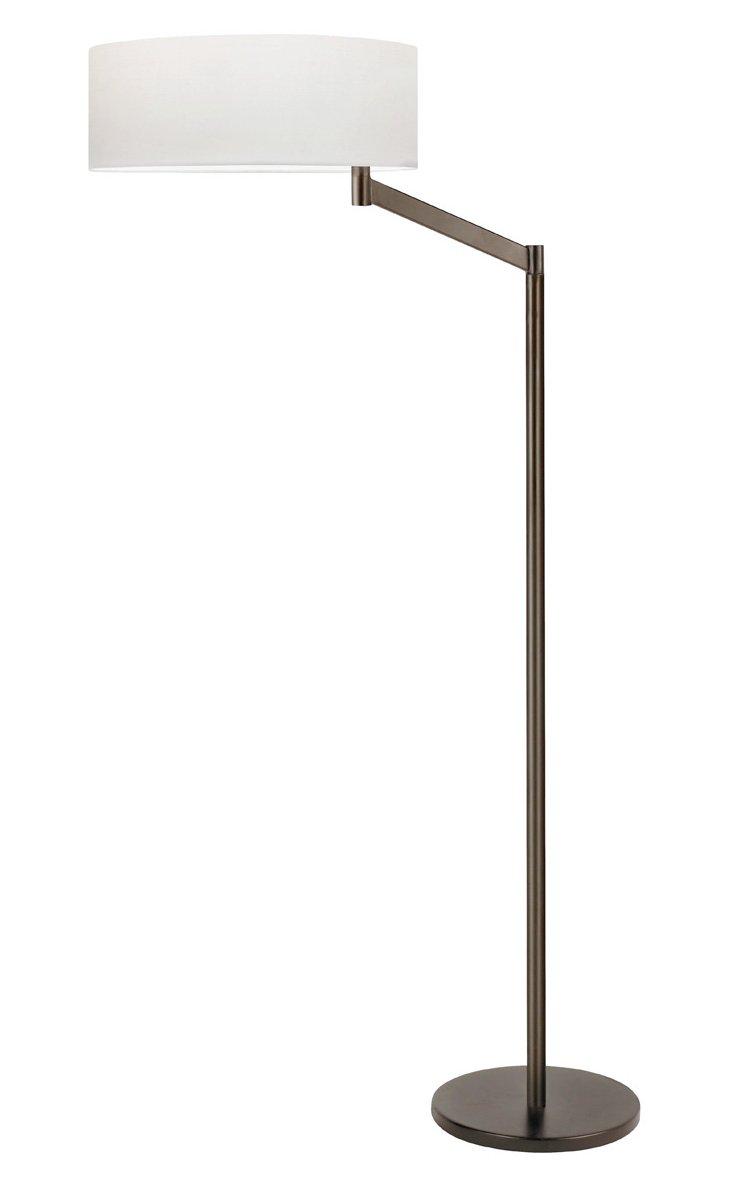 Perch Swing-Arm Floor Lamp, Bronze