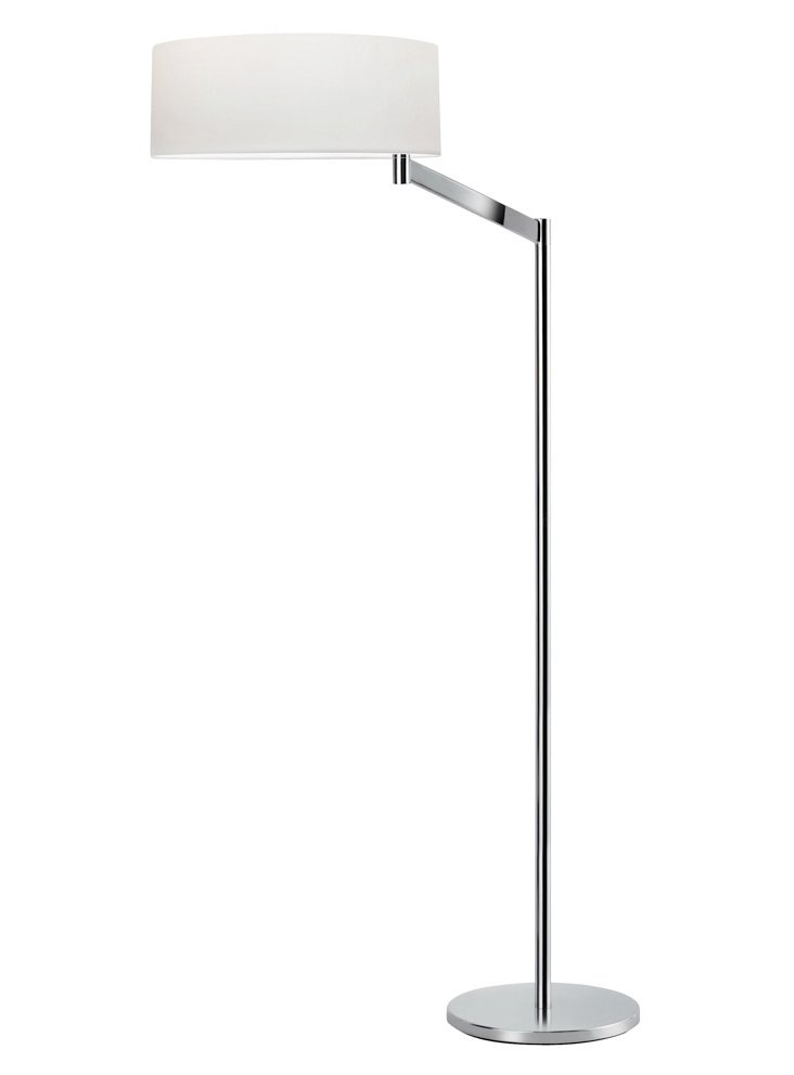 Perch Swing Arm Floor Lamp, Chrome
