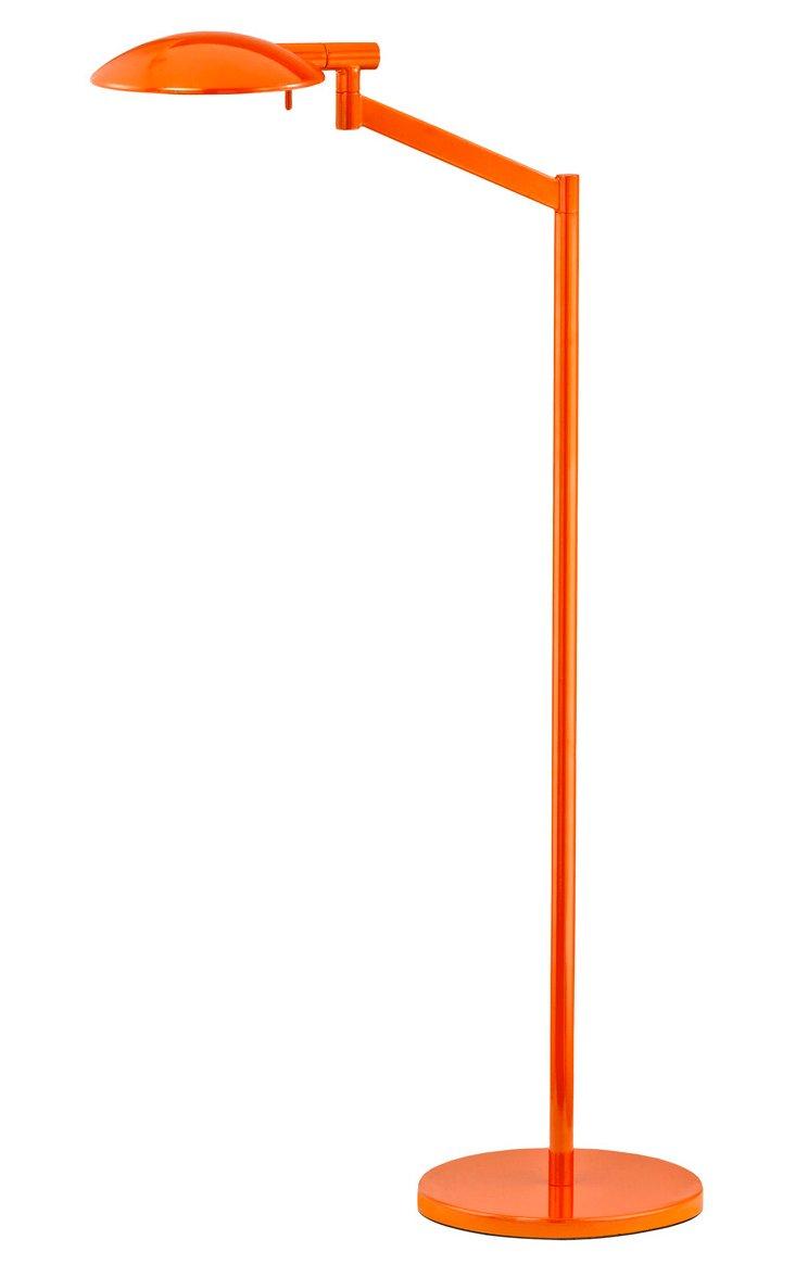 Pharmacy Swing-Arm Floor Lamp, Orange