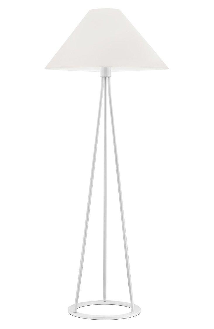 Tetra Floor Lamp, White Gloss