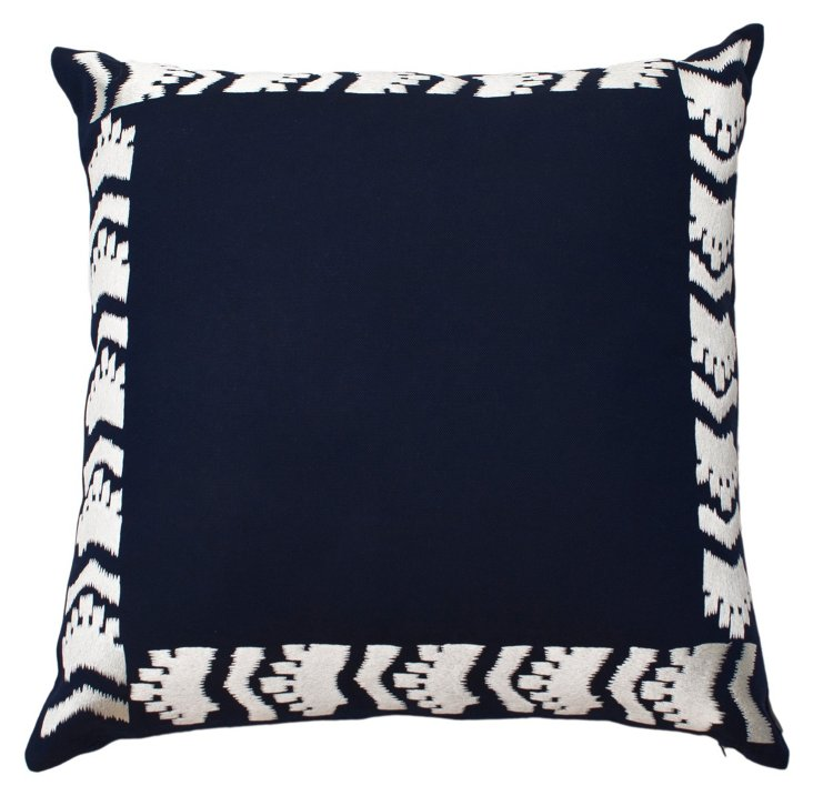 Cabo 25x25 Pillow, Navy