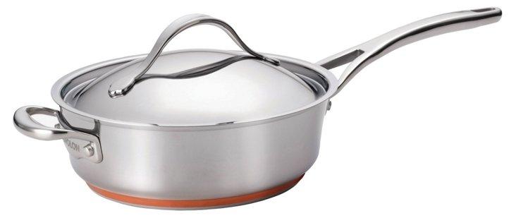 3 Qt Sauté Pan w/ Lid, Silver