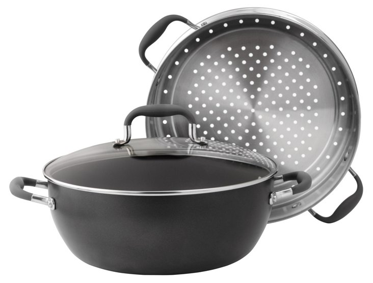 3-Pc Steamer Set, Black