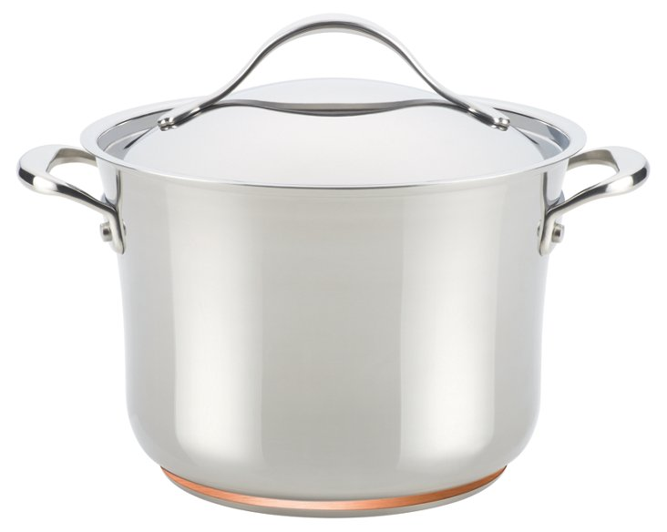 Nouvelle Stockpot w/ Lid, Silver