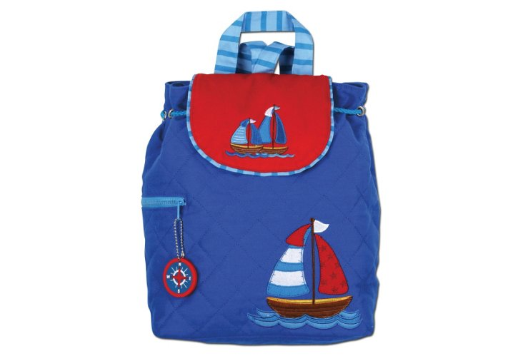 Quilted Backpack Nautical