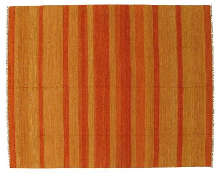 7'9''x9'9'' Anzali Kilim Rug, Orange