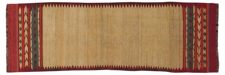 3'x9'3'' Qarshi Kilim Rug, Brown/Multi