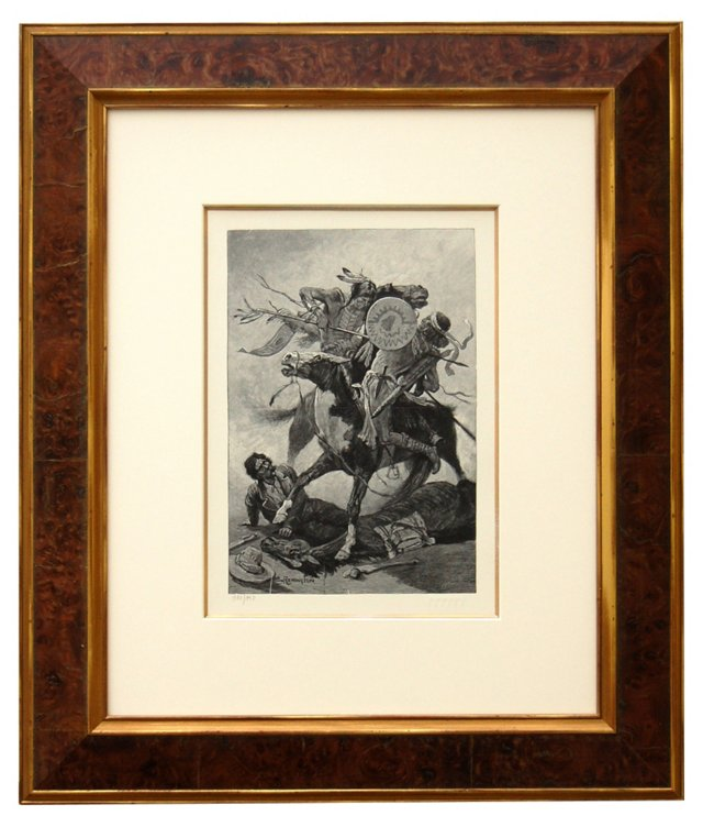 Frederic Remington, Thrust Of His Lance