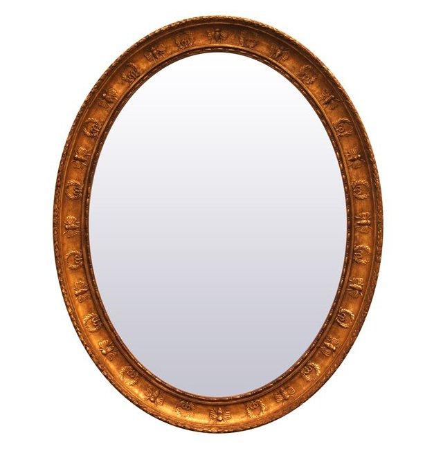 Bee & Wreath Oval Mirror