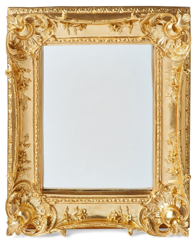 Louis Sweep Accent Mirror, Gold