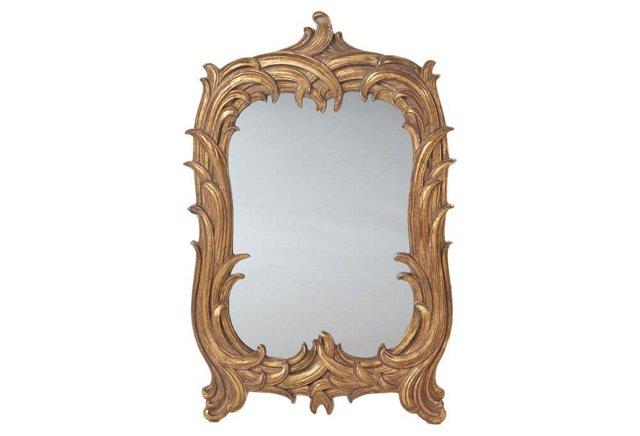 Art Nouveau Mirror, Gold