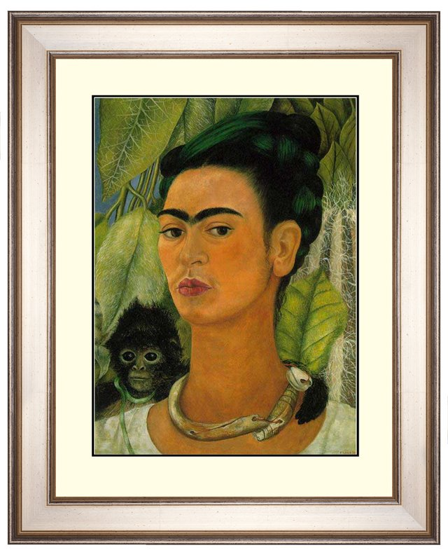 Frida Kahlo, Self Portrait with Monkey