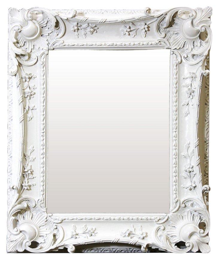 Louis Sweep Mirror, White