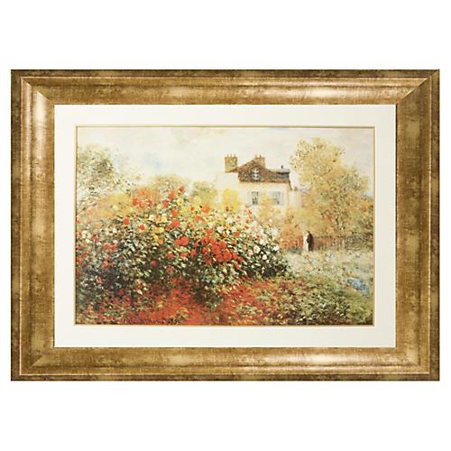 Claude Monet, Garden in Argenteuil Sun