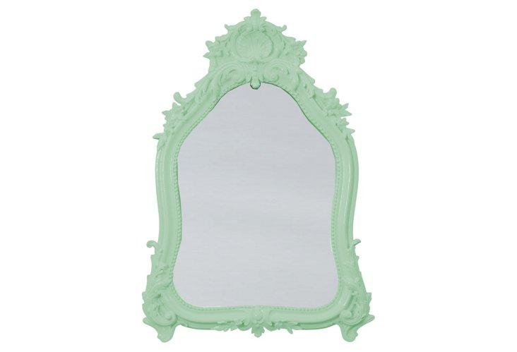 Shell Crown Mirror, Kiwi Green