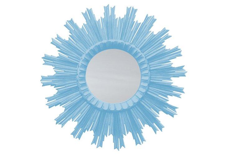Kendra Sunburst Mirror, Candid Blue
