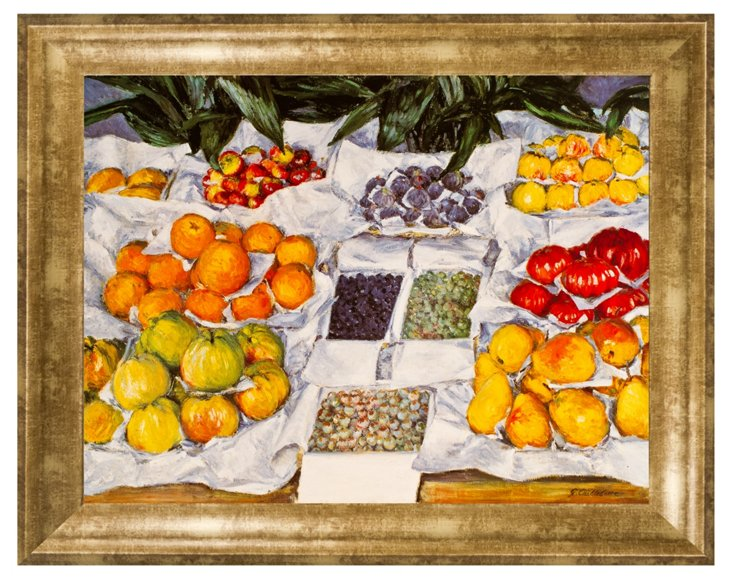 Caillebotte, Fruit Displayed on a Stand