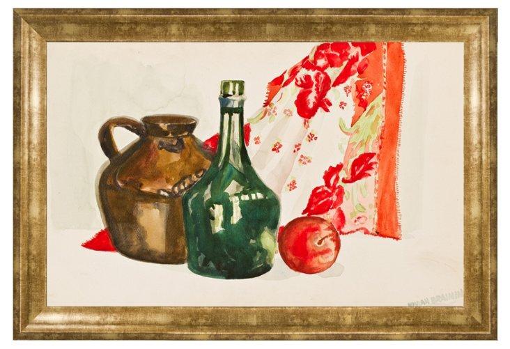 Vivian Brainin, Still Life with Bottle