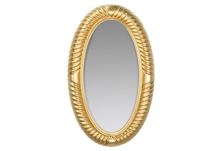 Wave Oval Mirror