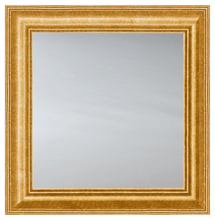 Classic Square Mirror, Gold