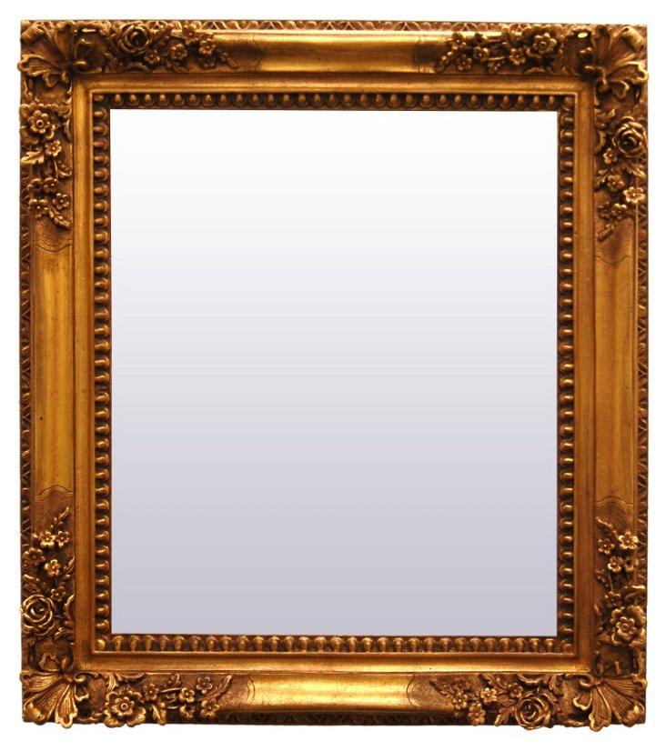 Lambrequin Mirror, Gold