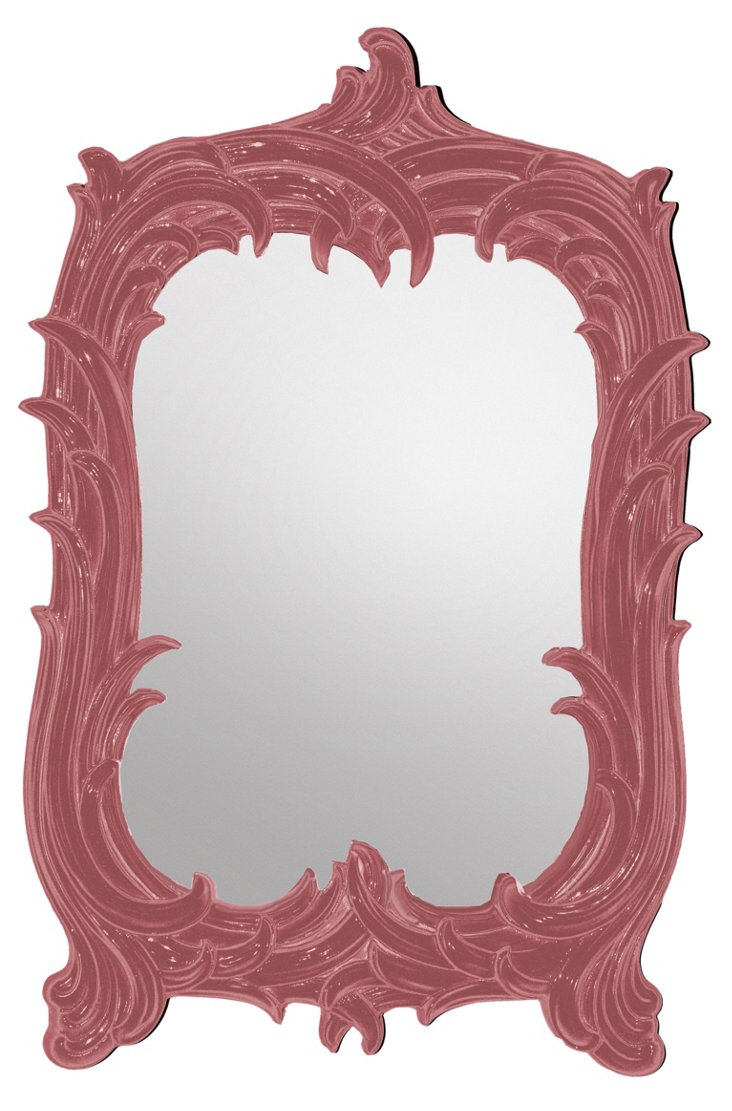 Art Nouveau Mirror, Poinsettia