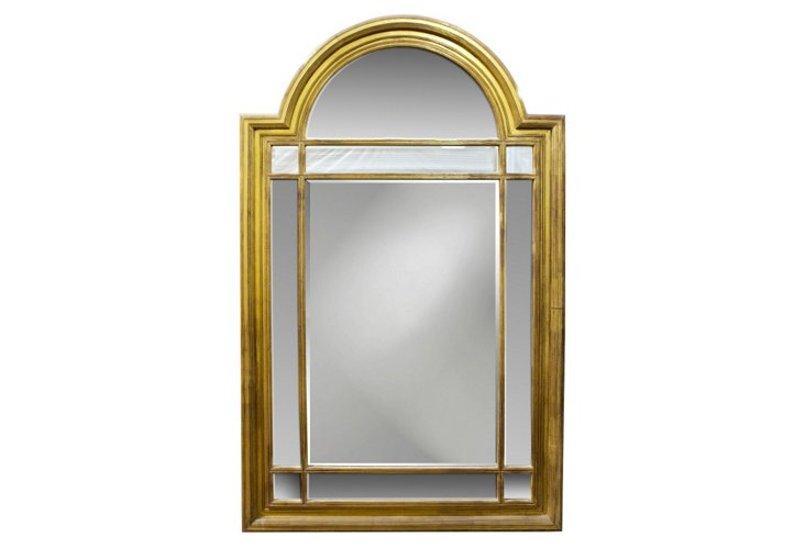 Traditional Arch Top Mirror, Gold