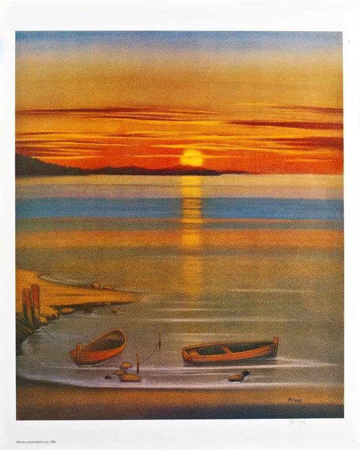 Righi, Rowboats at Sunset