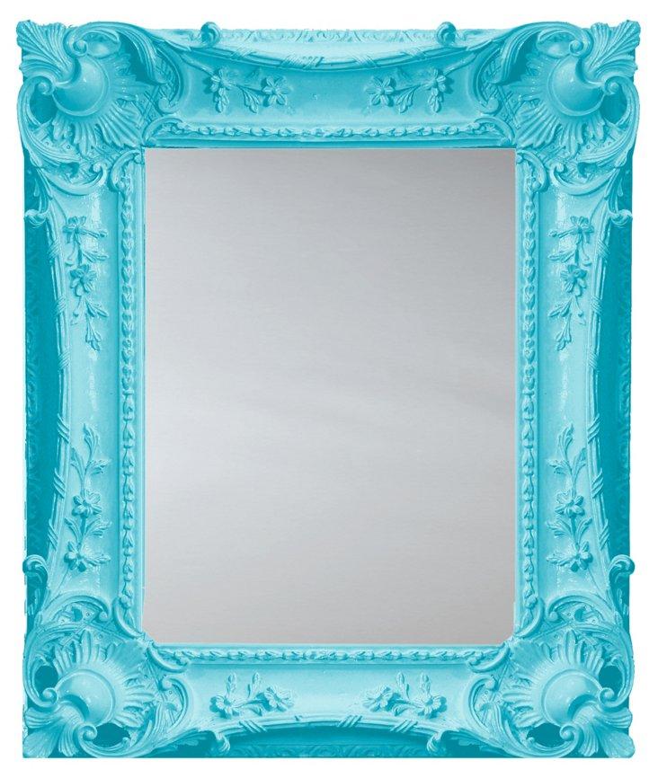 Louis Sweep Mirror, Aqua