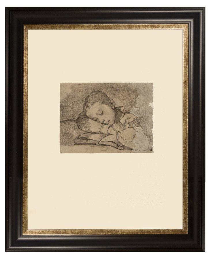 Portrait de Juilette Courbet Endormie