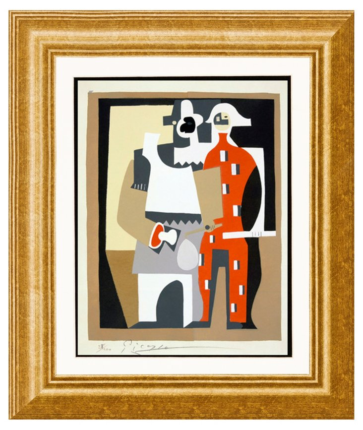 Picasso, Pierrot and Harlequin, 1920