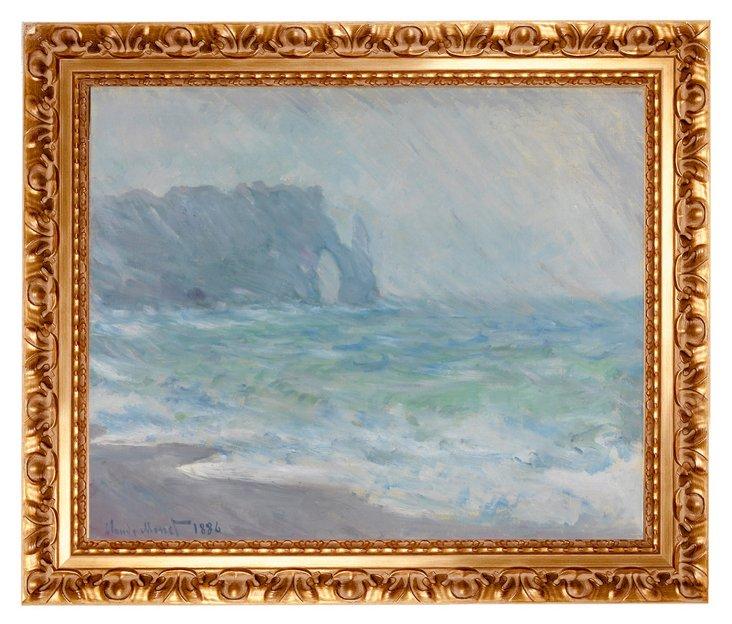 Monet, Regnvær, Etretat, 1886